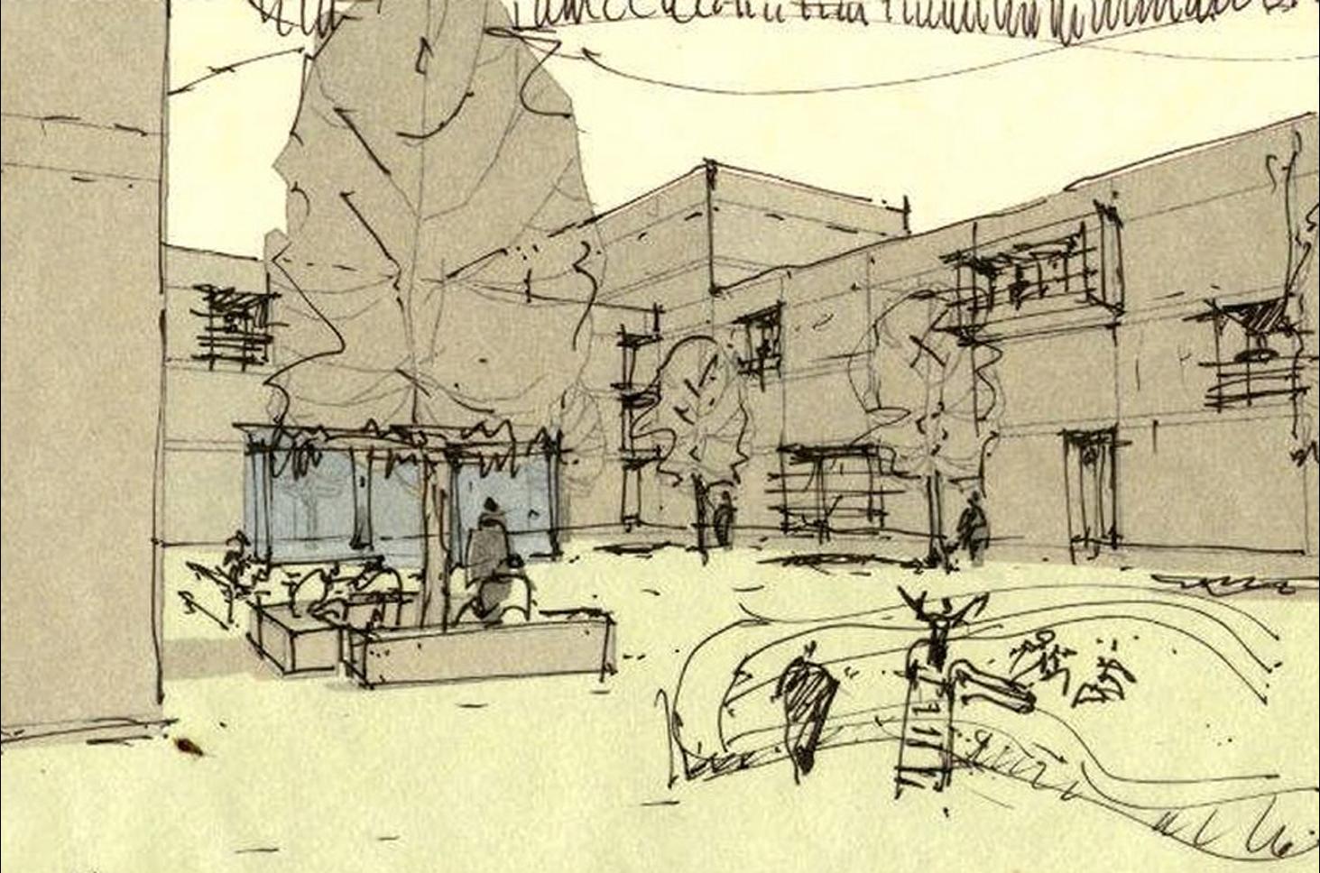 Tibilisi_courtyard sketch_ground level